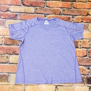 Columbia size 1x purple short sleeved top. (O13)